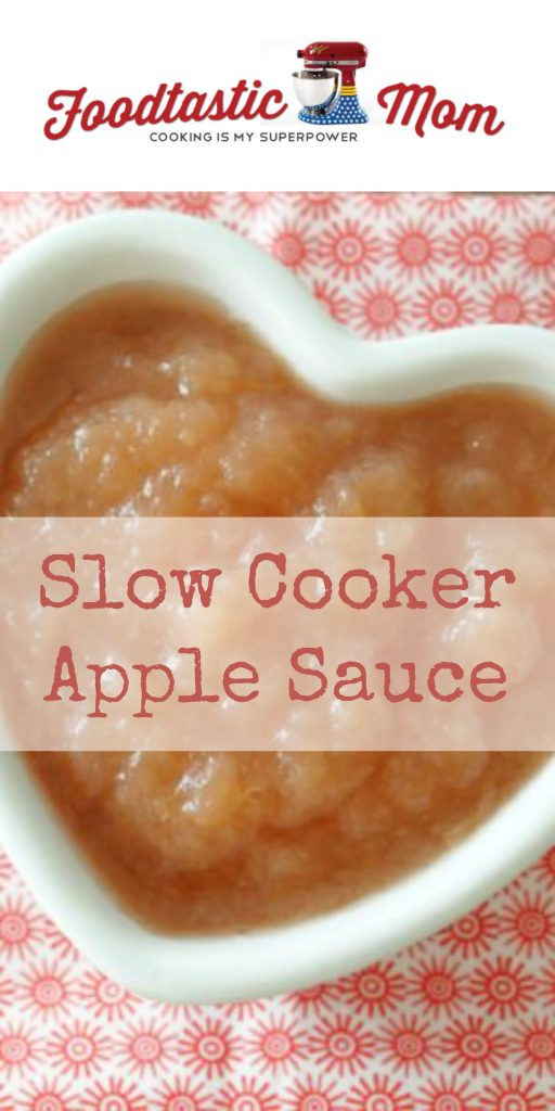Slow Cooker Apple Sauce by Foodtastic Mom