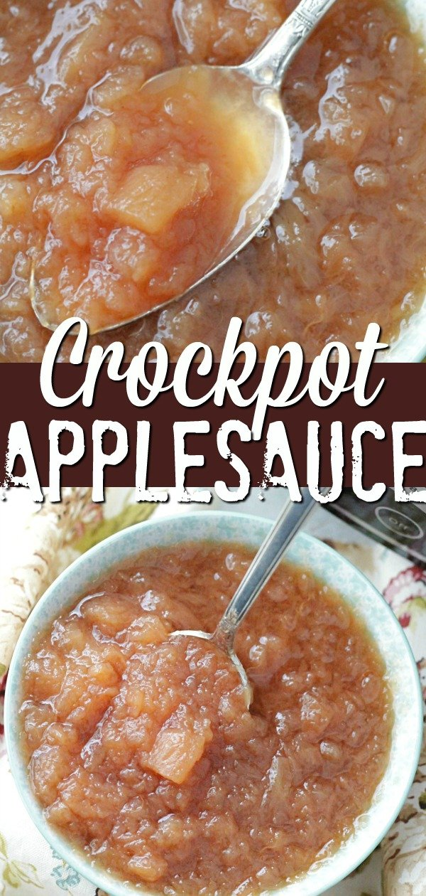 Crockpot Applesauce | Foodtastic Mom #crockpotapplesauce #applesauce #homemadeapplesauce #lowsugardesserts