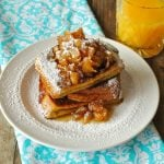 Peanut Butter French Toast with Caramel Apple Syrup