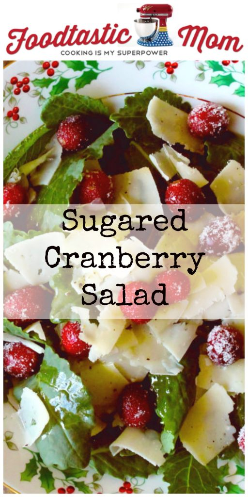 Sugared Cranberry Salad by Foodtastic Mom