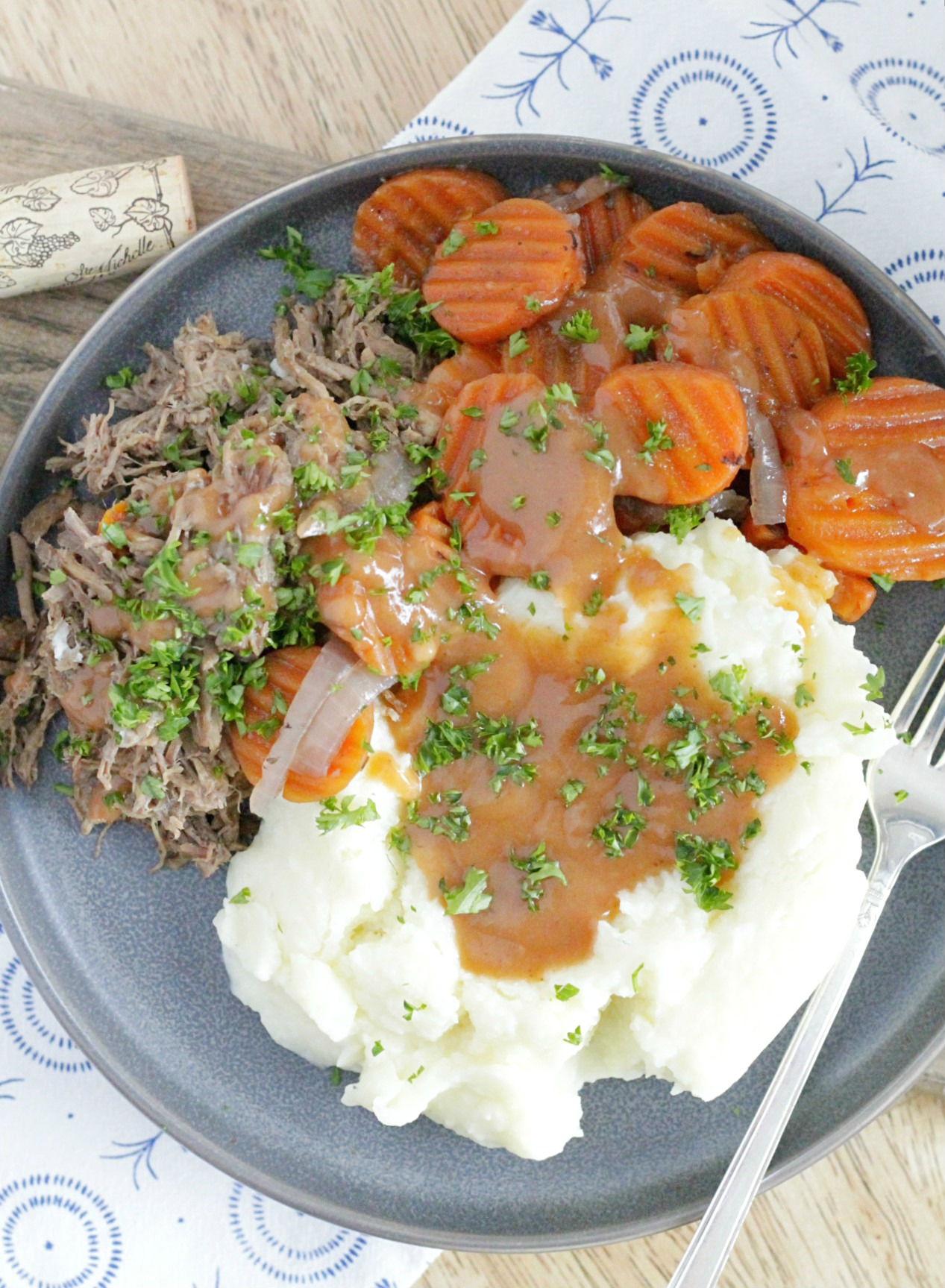 Slow Cooker Pot Roast With Red Wine Foodtastic Mom