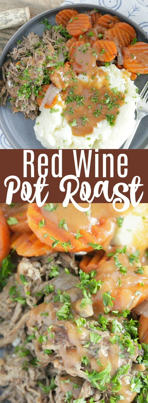 Slow Cooker Pot Roast with Red Wine | Foodtastic Mom