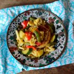 Thai Vegetable Green Curry with Jasmine Rice Cakes