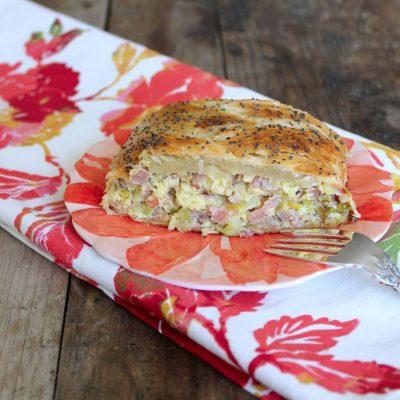 Ham and Leek Breakfast Braid
