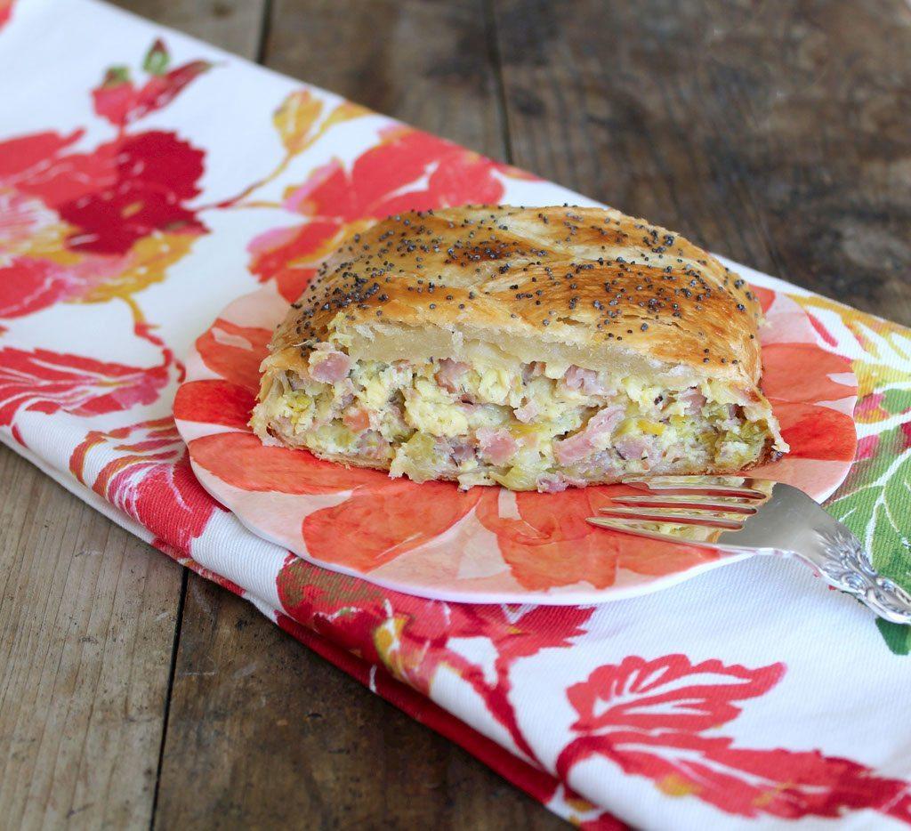 Ham and Leek Breakfast Braid - Foodtastic Mom