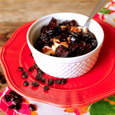 Greek Yogurt with Coffee Fig Compote