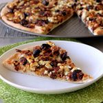 Bacony Brussels Sprouts Pizza with Figs and Goat Cheese {+product recommendations}