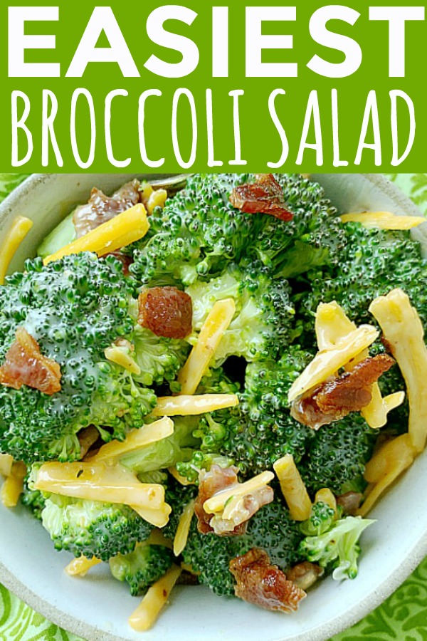 Easiest Broccoli Salad | Foodtastic Mom #broccolisalad #broccolisaladrecipe
