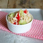 Orzo Pasta Salad with Cucumber and Tomato