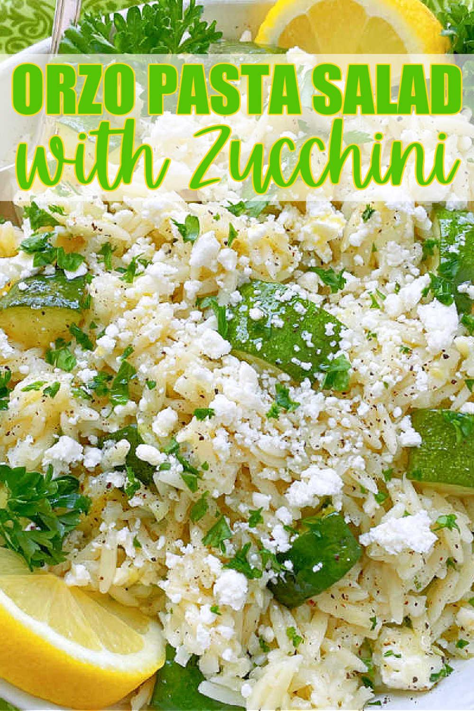 Orzo Pasta Salad | Foodtastic Mom #orzorecipes #pastasalad #pastarecipes #orzopastasalad via @foodtasticmom