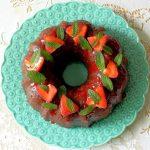 Strawberry Glazed Pound Cake