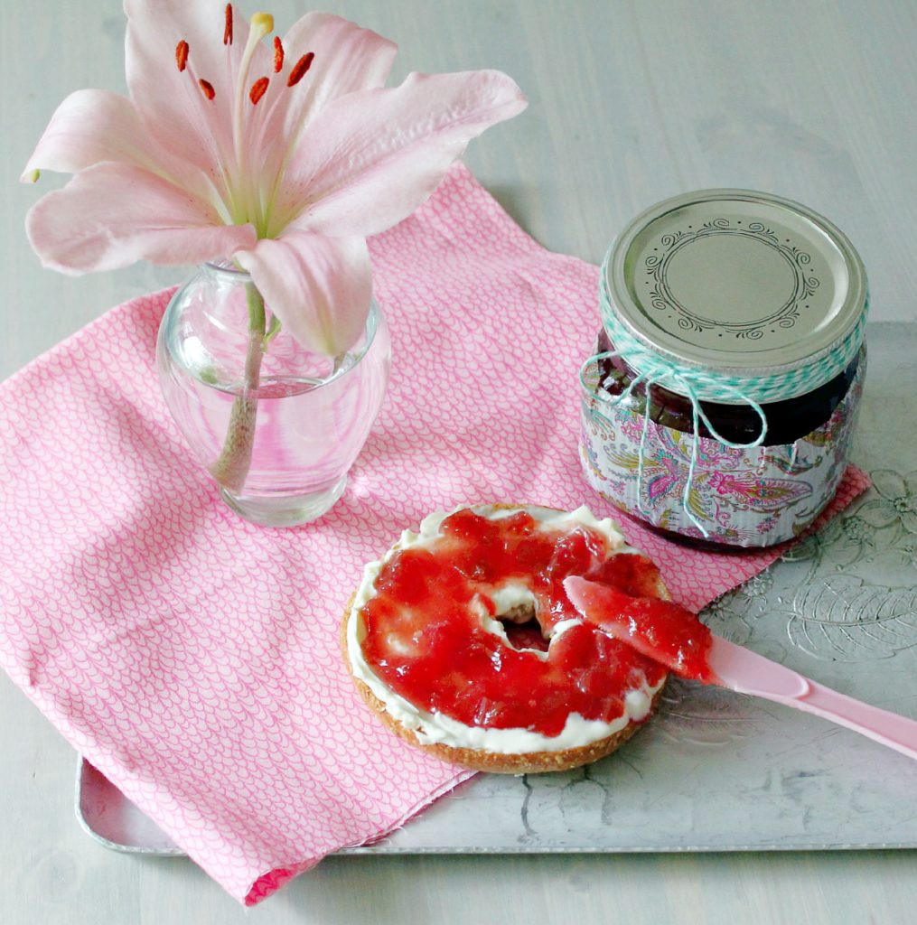 straw rhubarb jam share