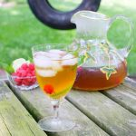 Iced Tea with Mint, Raspberries and Lime