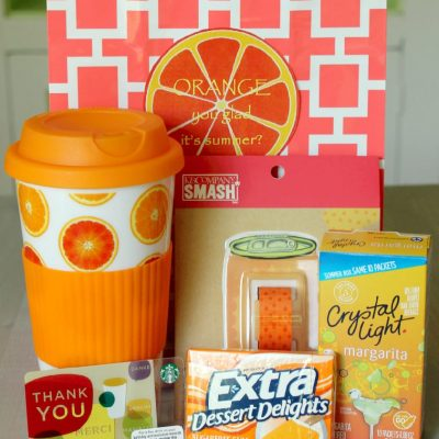 Orange Teacher Gift by Foodtastic Mom