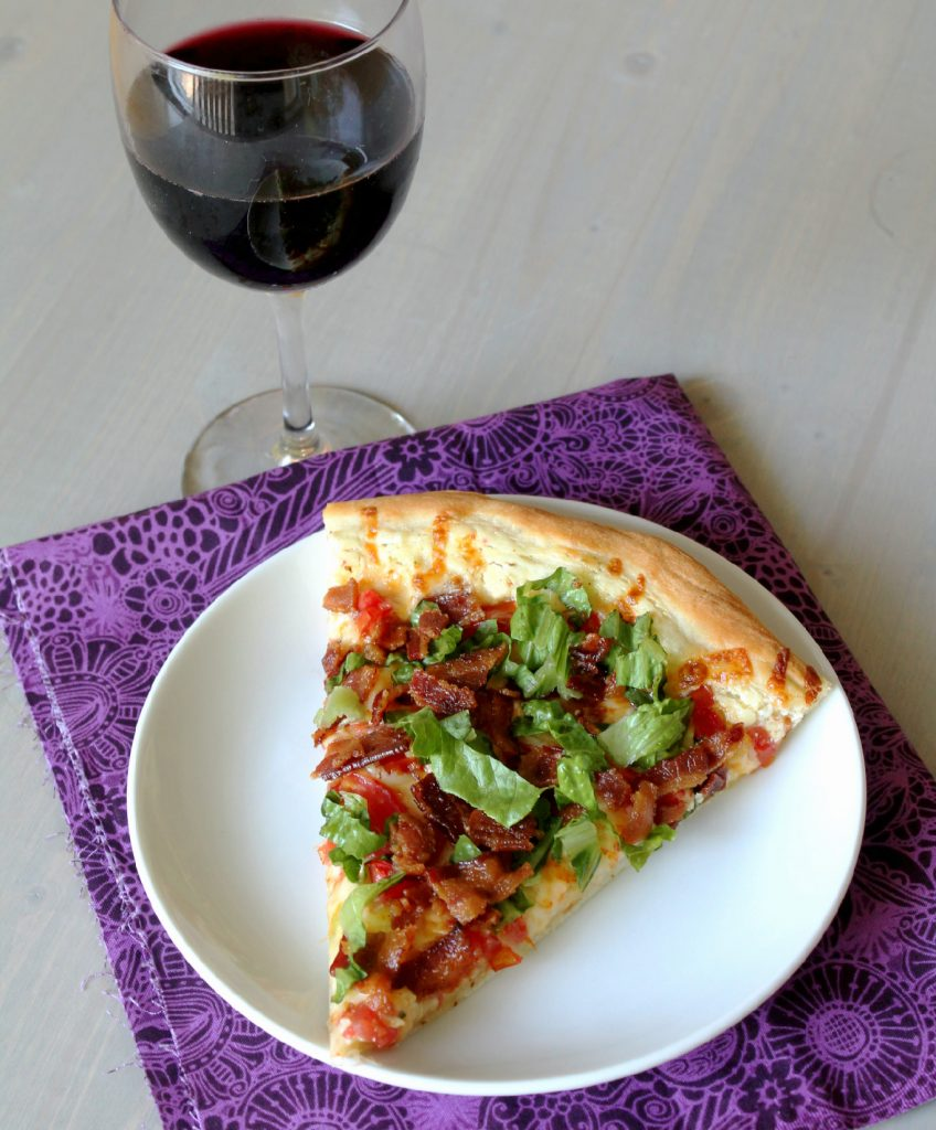 blt pizza sliceedited