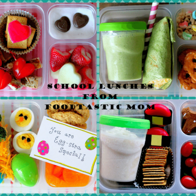 Back-to-School Lunch {Recipes for Peanut Butter & Chocolate Granola and Jammy Oat Bars}