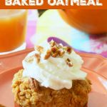 Pumpkin Pie Baked Oatmeal | Foodtastic Mom