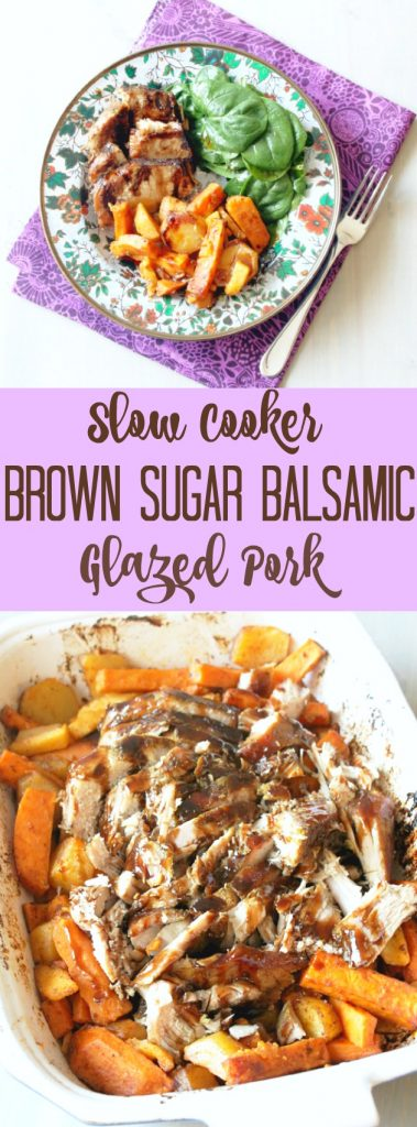 Slow Cooker Brown Sugar Balsamic Glazed Pork
