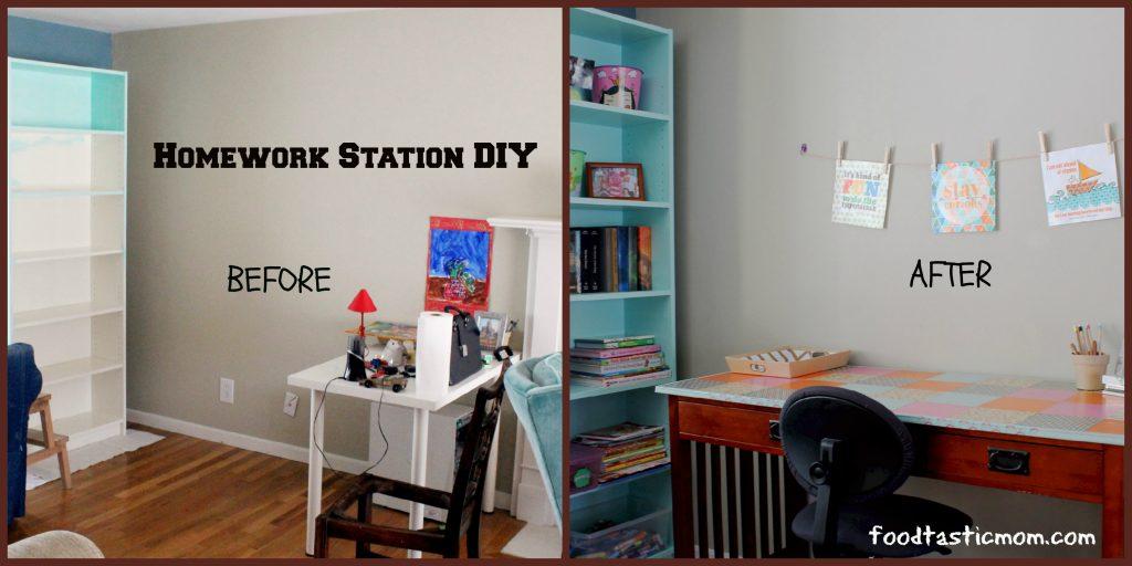 homework station diy foodtastic mom