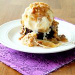 Quick German Chocolate Brownie Sundaes
