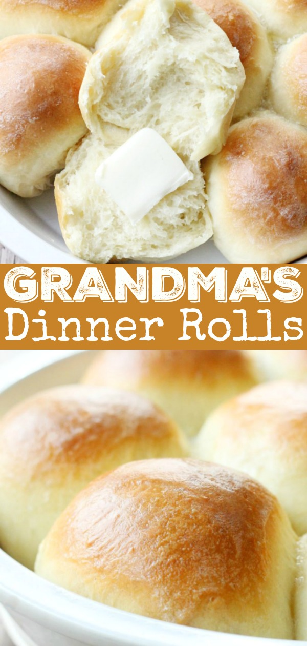 Grandma's Dinner Rolls Recipe | Foodtastic Mom #dinnerrolls #rollrecipe #homemaderolls #thanksgivingrecipes #grandmasrolls