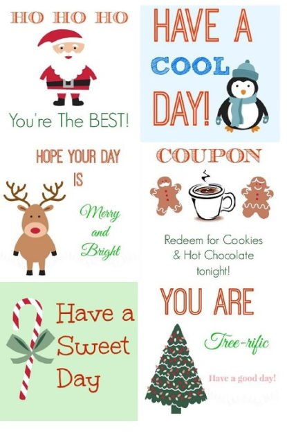 Free Christmas Lunch Notes from Confessions of a SAHM ...  sc 1 st  Foodtastic Mom & Christmas Lunch - Foodtastic Mom Aboutintivar.Com