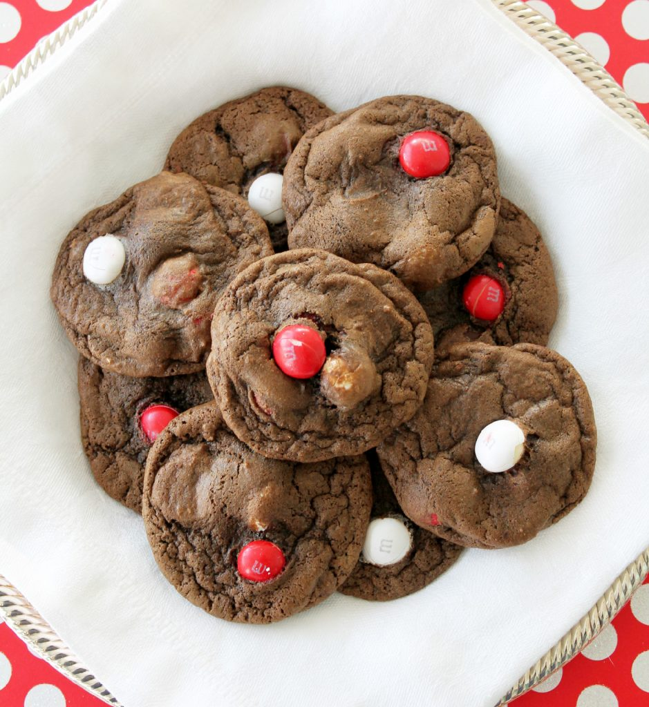 Double Chocolate Chip Cookies With White Chocolate Chip M M S