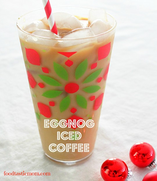 100 Calorie Eggnog Iced Coffee - Foodtastic Mom