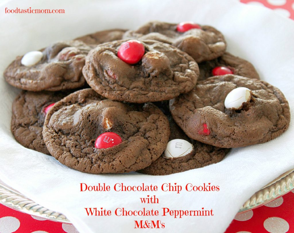 Double Chocolate Chip Cookies with White Chocolate Peppermint M&M's ...