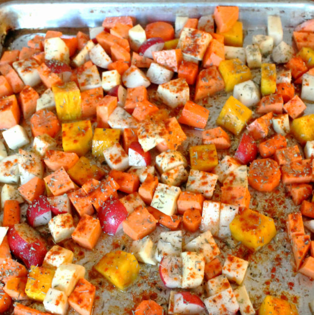 Vegan Roasted Root Vegetable Stew