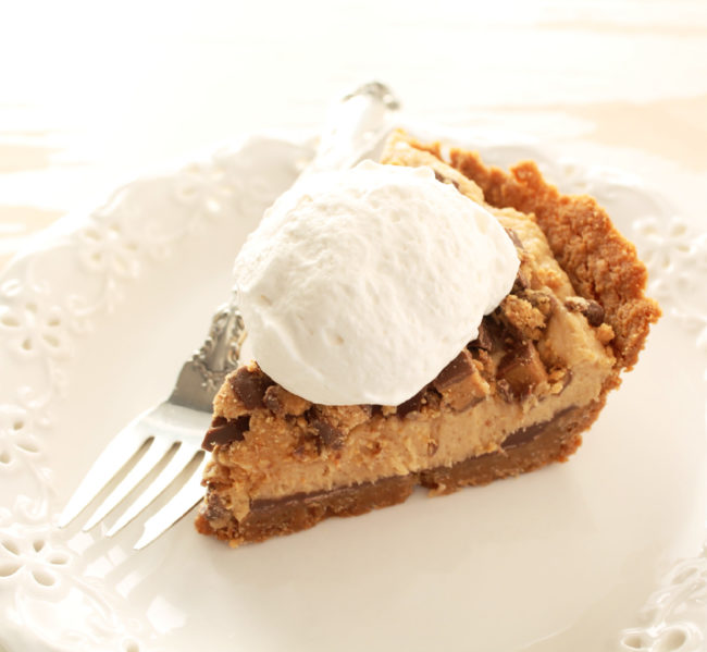 Reese's Peanut Butter Pie by Foodtastic Mom