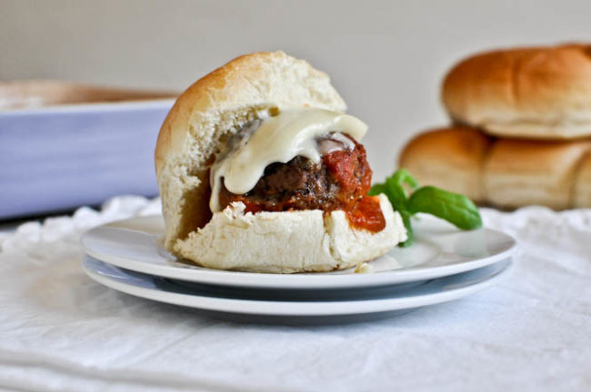 Meatball Sliders from How Sweet It Is