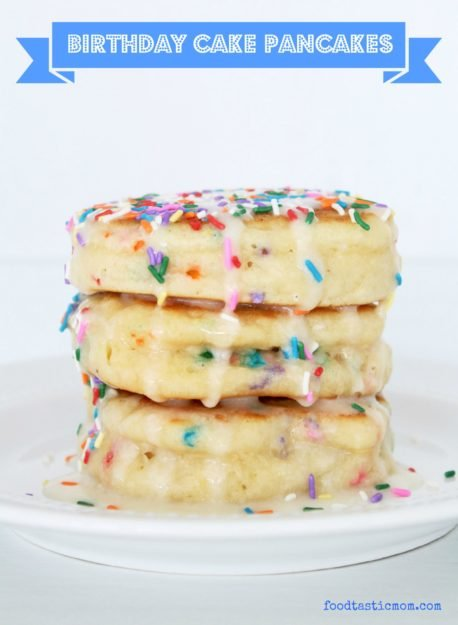 Birthday Cake Pancakes by Foodtastic Mom