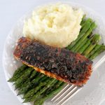 Chili Lime Almond Crusted Salmon with Maple Balsamic Glaze