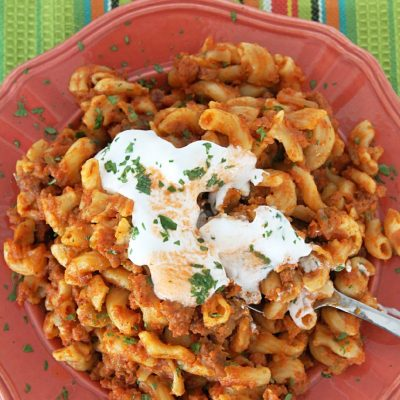 Slow-Cooker Taco Macaroni and Cheese