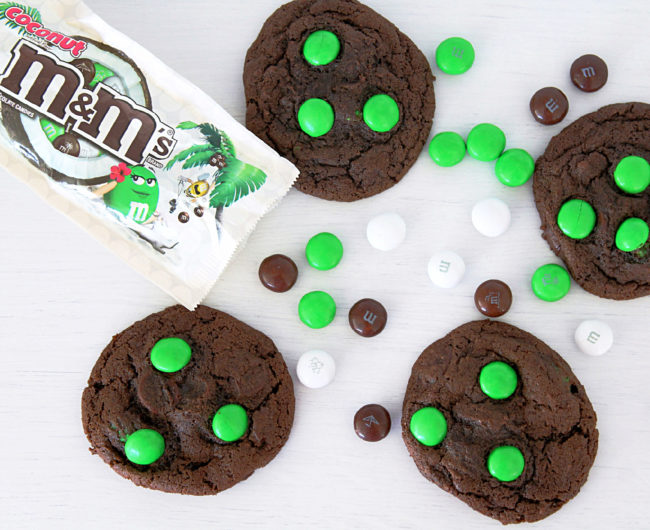 Double Chocolate Coconut M&M Cookies by Foodtastic Mom