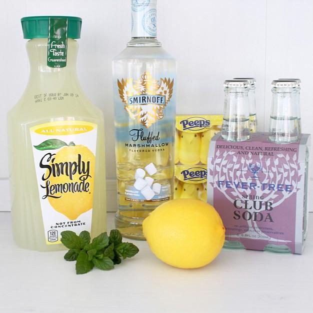 Sparkling Lemon Peep Mojito by Foodtastic Mom