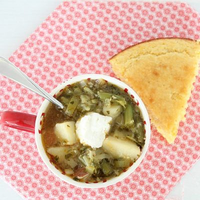 Spring Vegetable Soup & Buttermilk Corn Bread