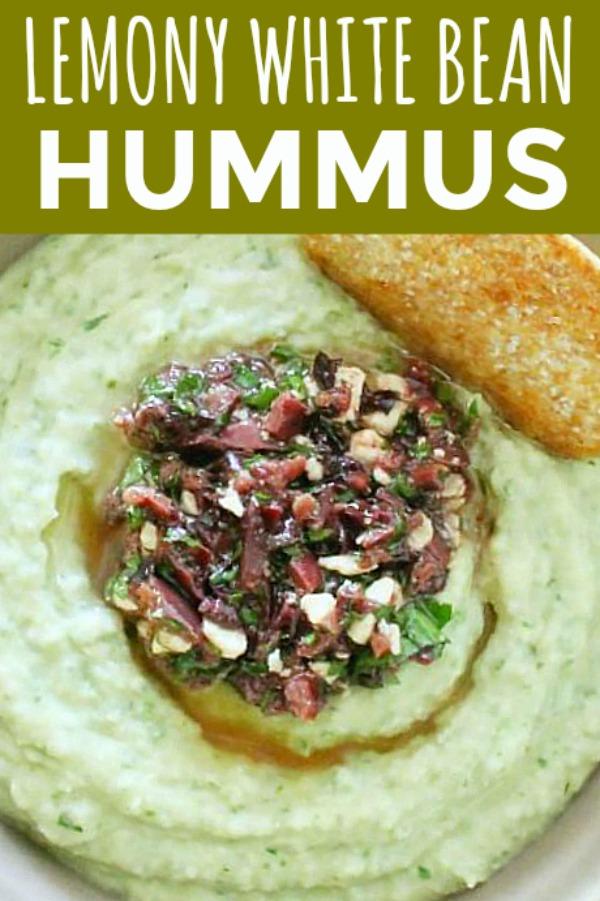 Lemony White Bean Hummus | Foodtastic Mom #hummus #hummusrecipe