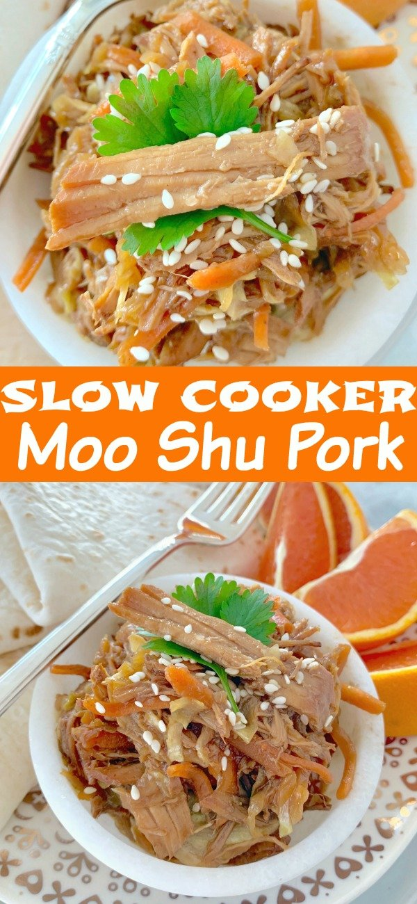 Slow Cooker Moo Shu Pork | Foodtastic Mom #slowcookerrecipes #mooshupork