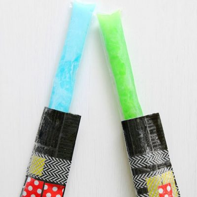 DIY Lightsaber Freezer Pop Sleeves