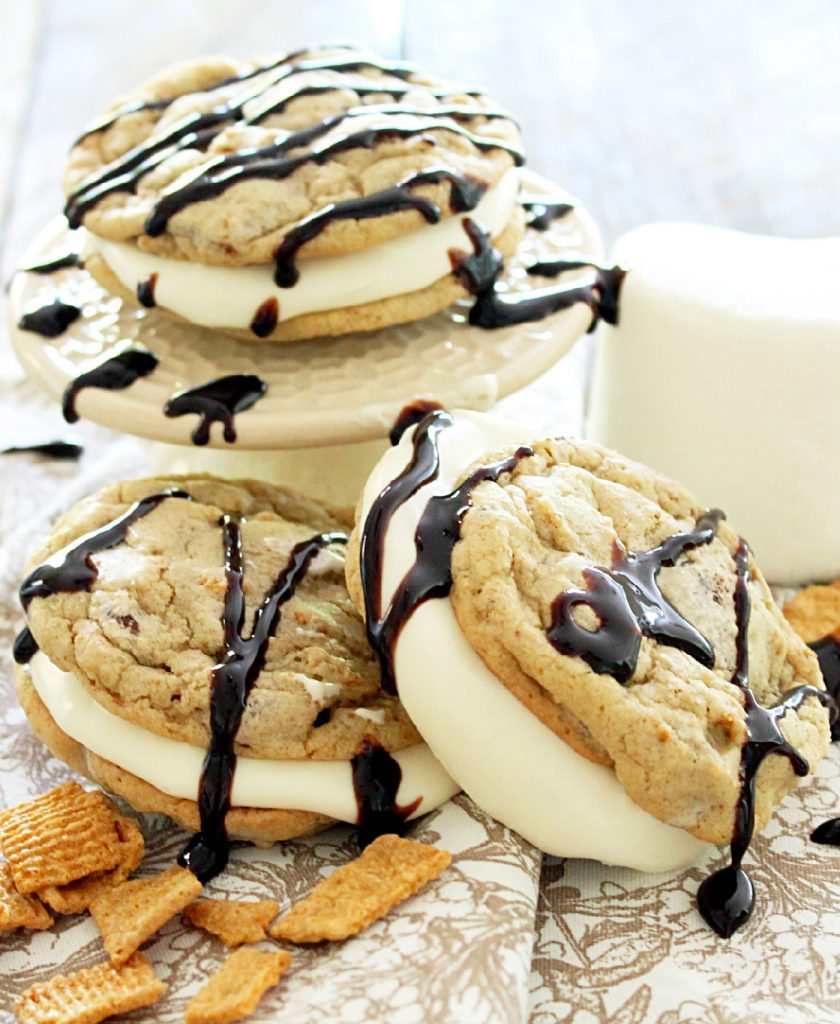 Chocolate Chip S'More Whoopie Pies by Foodtastic Mom
