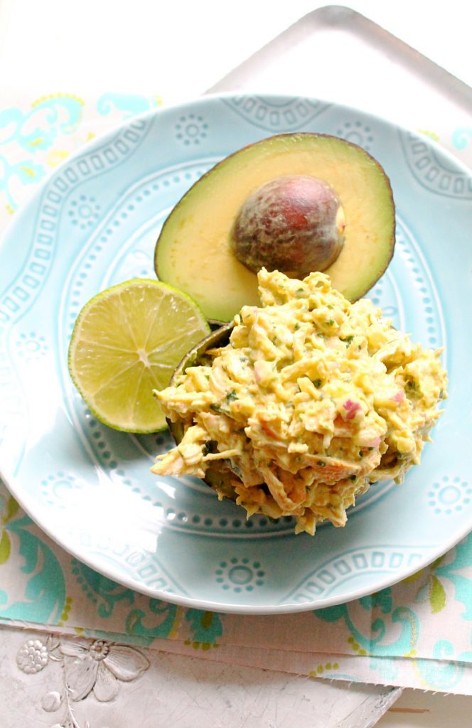 Mayo-Free Avocado Chicken Salad by Foodtastic Mom