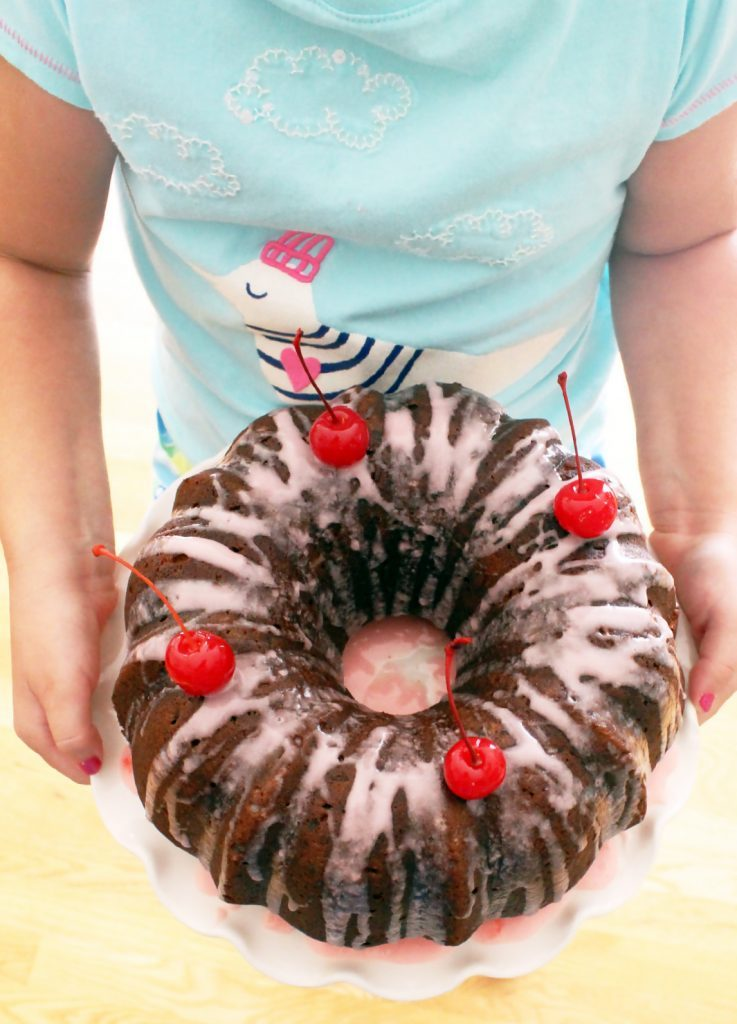 Coconut Cherry Bundt Cake by Foodtastic Mom