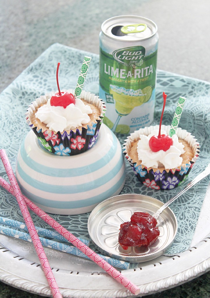 Cherry Margarita Mini Cheesecakes by Foodtastic Mom
