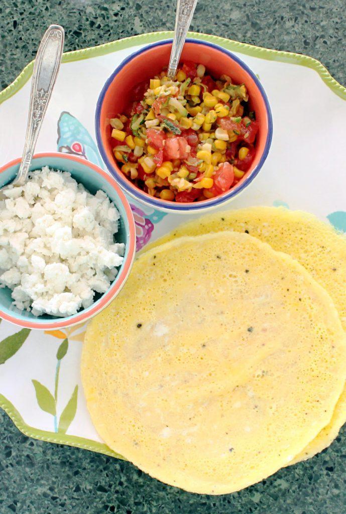 Summer Harvest Crepe Omelets by Foodtastic Mom