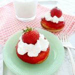 Strawberry Shortcake Baked Donuts