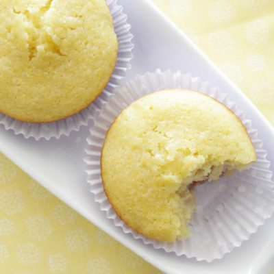 Sweet Corn Muffins with Blackberry Cream Cheese Filling