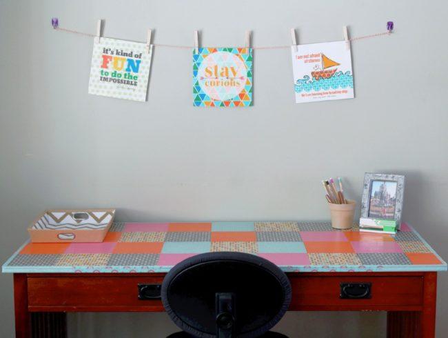 DIY Homework Station by Foodtastic Mom