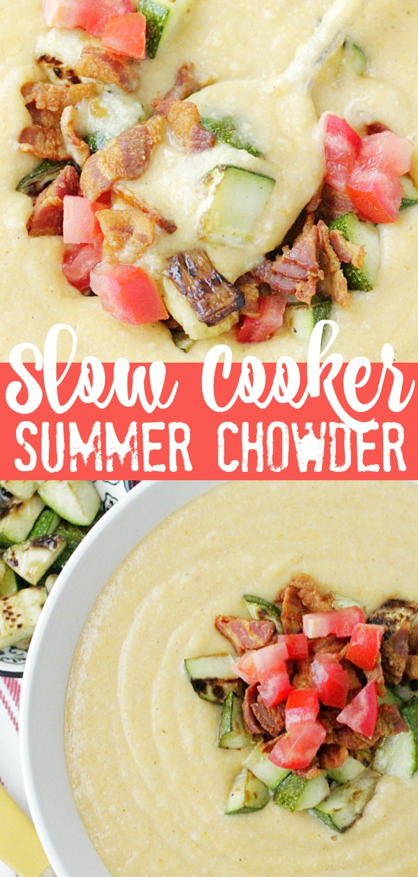 Slow Cooker Summer Chowder | Foodtastic Mom #slowcookerrecipes #slowcookerrecipeshealthy #corn #chowder #slowcookersummerchowder